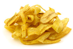 Freshly baked banana chips Stock Image