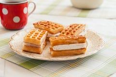 Freshly baked belgium waffles Stock Image