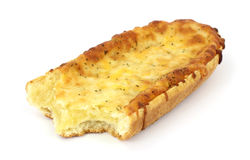 Freshly baked bitten French bread cheese pizza Royalty Free Stock Photo