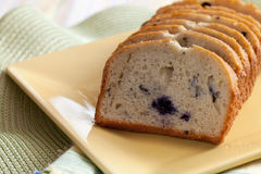 Freshly Baked Blueberry Bread Royalty Free Stock Photography