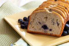 Freshly Baked Blueberry Bread Royalty Free Stock Photos