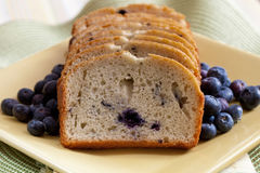 Freshly Baked Blueberry Bread Stock Photography