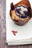 Freshly baked blueberry muffin Royalty Free Stock Image