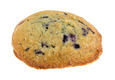 Freshly baked blueberry muffin top on a white background Stock Image