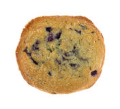 Freshly baked blueberry muffin top on a white background Stock Images