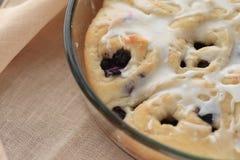 Freshly baked blueberry sweet rolls Stock Photo