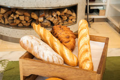 Freshly baked  bread in a bakery Royalty Free Stock Images