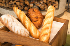 Freshly baked  bread in a bakery Royalty Free Stock Image