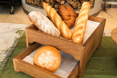 Freshly baked  bread in a bakery Stock Images