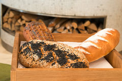 Freshly baked  bread in a bakery Royalty Free Stock Photo