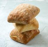 Freshly baked bread buns Stock Photo