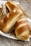 Freshly baked bread buns Stock Photos