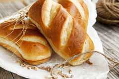 Freshly baked bread buns Royalty Free Stock Photography