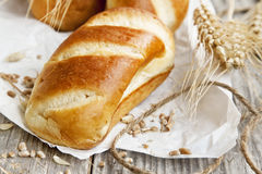 Freshly baked bread buns Royalty Free Stock Photo