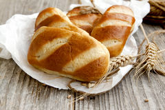 Freshly baked bread buns Royalty Free Stock Photos