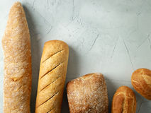 Freshly baked bread buns Stock Photos