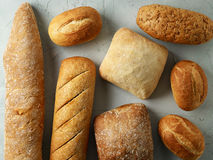 Freshly baked bread buns Stock Photo