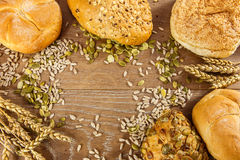 Freshly baked bread Stock Images