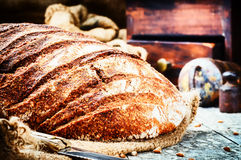 Freshly baked bread loaf Stock Photo