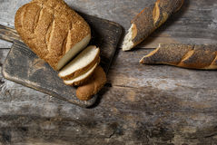 Freshly baked bread loaves Stock Photo