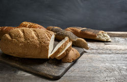 Freshly baked bread loaves Royalty Free Stock Photo