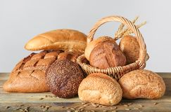 Freshly baked bread products Royalty Free Stock Images