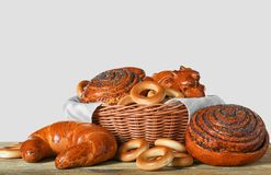 Freshly baked bread products Royalty Free Stock Photos