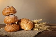 Freshly baked bread products Royalty Free Stock Image