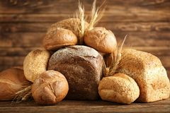 Freshly baked bread products Royalty Free Stock Photography