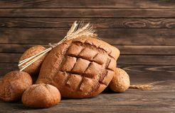 Freshly baked bread products Stock Photography