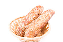 Freshly baked bread rolls with sesame Royalty Free Stock Photo