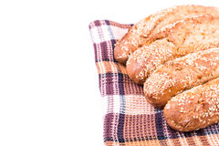 Freshly baked bread rolls with sesame Royalty Free Stock Images