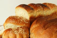 Freshly baked bread several species Royalty Free Stock Image