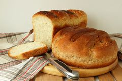 Freshly baked bread several species Stock Photo