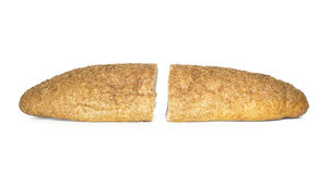 Freshly baked bread on white background Royalty Free Stock Image