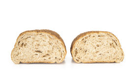 Freshly baked bread on white background Royalty Free Stock Photo