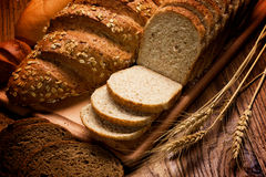 Freshly baked breads stock photography