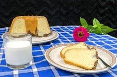 Freshly baked bundt cake Royalty Free Stock Photos