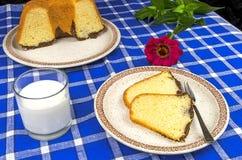 Freshly baked bundt cake Royalty Free Stock Image
