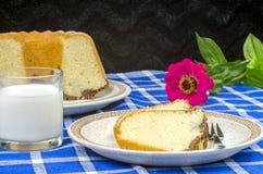 Freshly baked bundt cake Stock Image