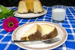 Freshly baked bundt cake Stock Images