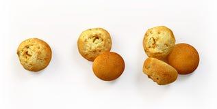 Freshly baked buns set isolated Royalty Free Stock Photography