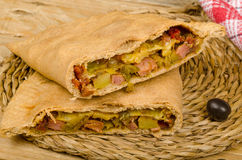 Freshly baked calzone Royalty Free Stock Images