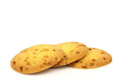 Freshly baked caramel chip cookies Royalty Free Stock Photos