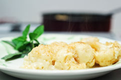 Freshly baked cauliflower Royalty Free Stock Photography