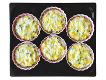 Freshly baked cheese and broccoli pies Stock Images