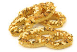 Freshly baked cheese pretzels Royalty Free Stock Photography