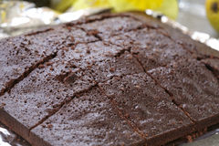 Freshly Baked Chocolate Brownies Stock Photography