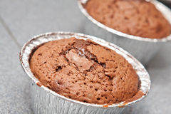 Freshly baked chocolate muffin Royalty Free Stock Image