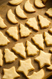 Freshly baked Christmas cookies stock photo